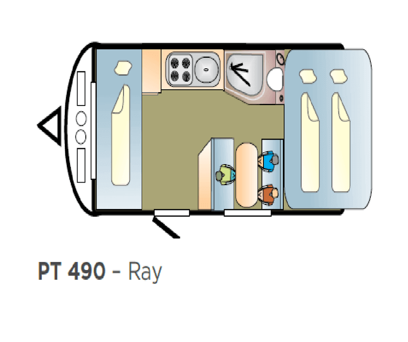 400 Series Pop Top 490 Ray Slide out